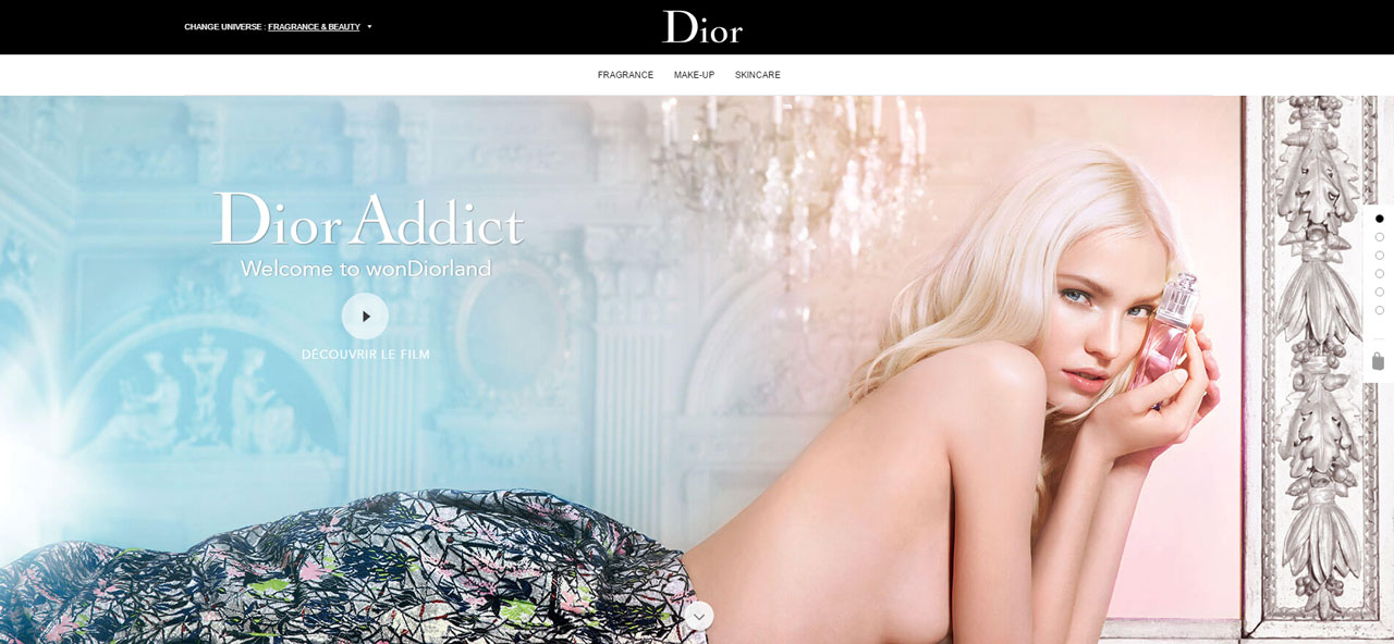 Dior Addict Gradient Example | Web Design Trends 2017 | Major Digital Creative Agency Brighton