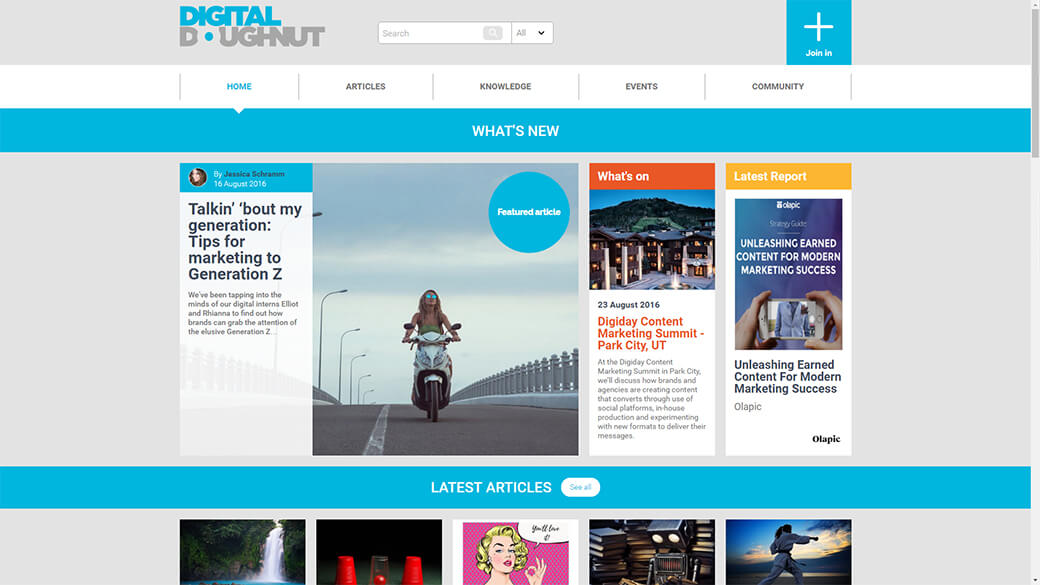 Digital Doughnut website after